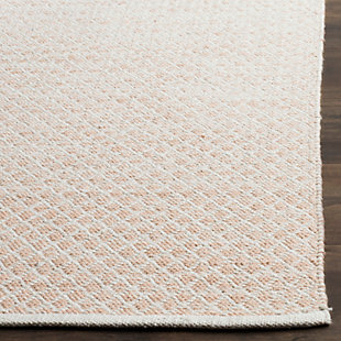 Flat Weave 8' x 10' Area Rug, Beige/White, large