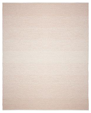 Flat Weave 8' x 10' Area Rug, Beige/White, large