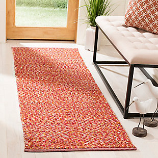"Flat Weave 2'3"" x 7' Runner Rug, Orange, rollover"