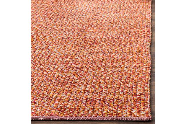 Flat Weave 3' x 5' Doormat, Orange, large