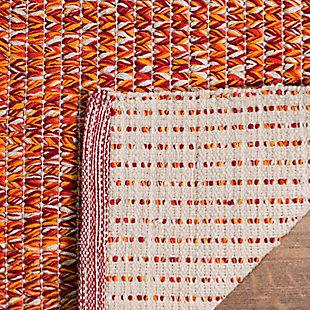 Flat Weave 5' x 8' Area Rug, Orange, large