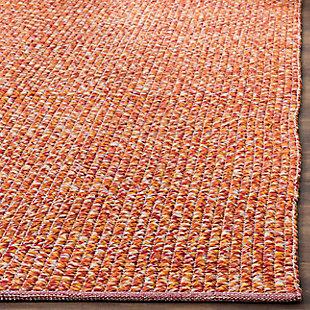 Flat Weave 6' x 9' Area Rug, Orange, large
