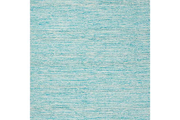 Flat Weave 5' x 8' Area Rug, Blue, large