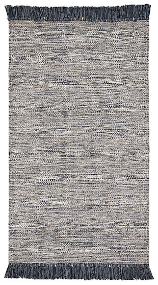 Flat Weave 3' x 5' Doormat, Gray, large
