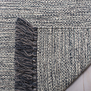 Flat Weave 5' x 8' Area Rug, Gray, large