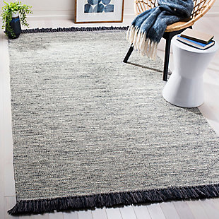 Flat Weave 5' x 8' Area Rug, Gray, rollover