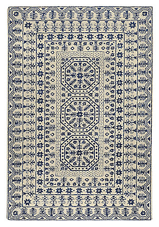 Home Accents Smithsonian 5' x 8' Area Rug, Blue, large