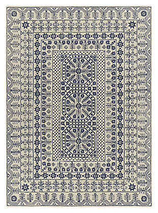 Home Accents 8' x 11' Rug, Blue, large