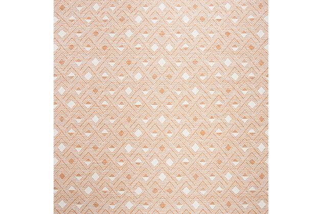 Power Loomed 5' x 8' Area Rug, Orange/White, large