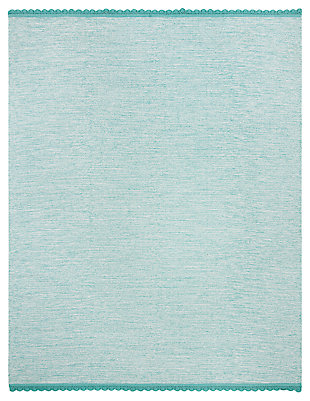 Hand Crafted 8' x 10' Area Rug, Blue, rollover