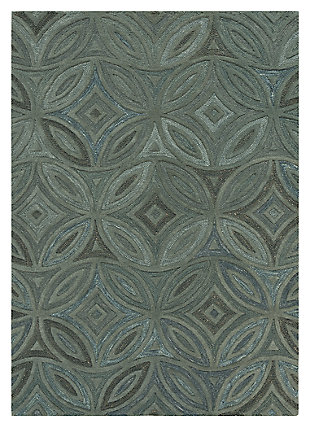 Home Accents 5' x 8' Rug, Green, large