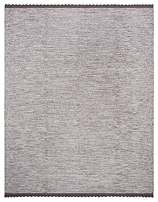 Hand Crafted 8' x 10' Area Rug, Gray, rollover