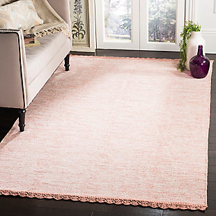 Hand Crafted 8' x 10' Area Rug, Orange, rollover