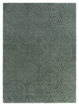 Home Accents 8' x 11' Rug, Green, large