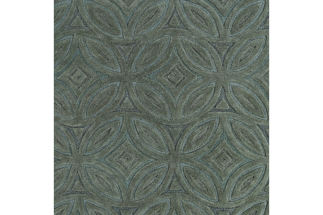 Home Accents 8' x 11' Rug by Ashley HomeStore, Green
