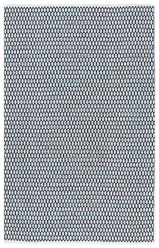 Hand Crafted 8' x 10' Area Rug, Blue/White, large