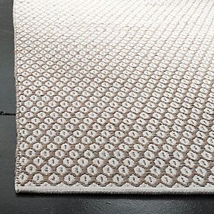 Hand Crafted 3' x 5' Doormat, Beige/White, rollover