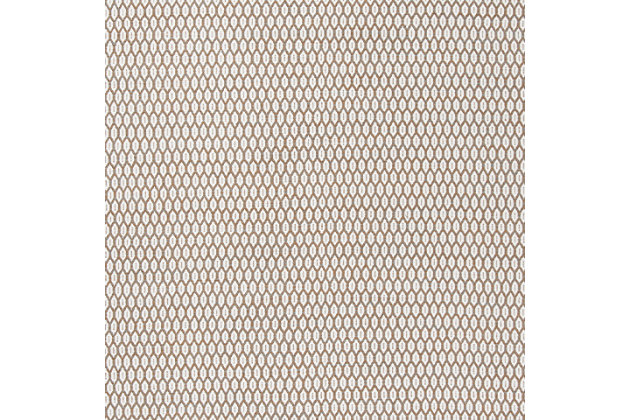Hand Crafted 5' x 8' Area Rug, Beige/White, large