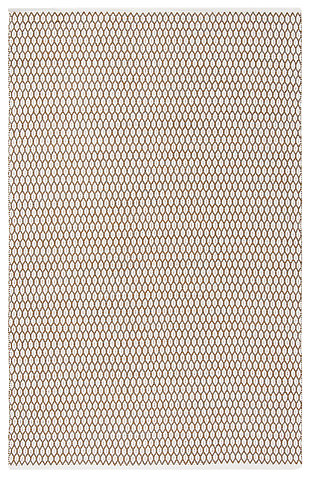 Hand Crafted 8' x 10' Area Rug, Beige/White, large