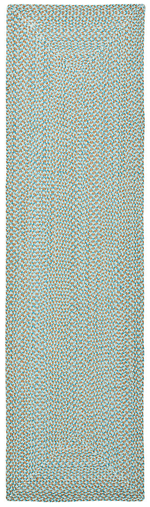 "Reversible 2'3"" x 8' Runner Rug, Gray, large"