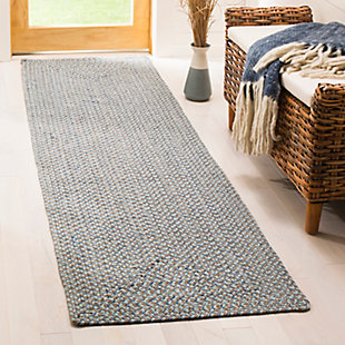 "Reversible 2'3"" x 8' Runner Rug, Gray, rollover"