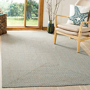 Reversible 5' x 8' Area Rug, Gray, rollover