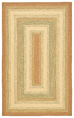 Reversible 5' x 8' Area Rug, Rust, rollover