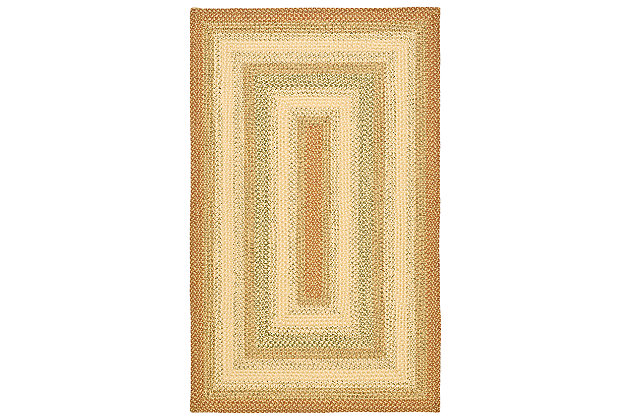 Reversible 5' x 8' Area Rug, Rust, large
