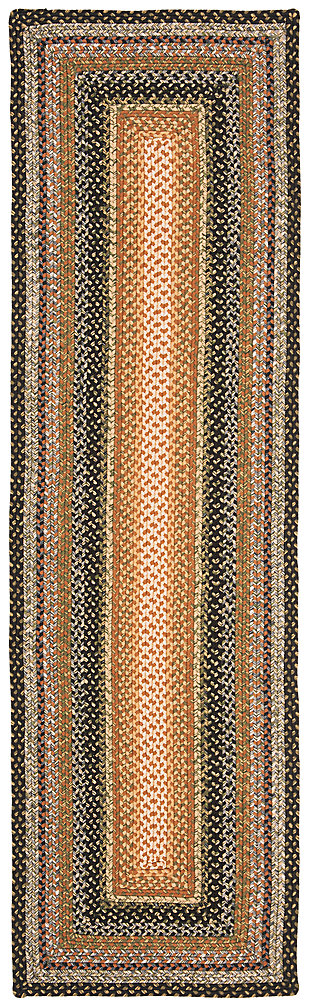 "Reversible 2'3"" x 8' Runner Rug, Beige/Brown, large"
