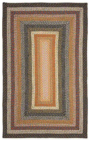 Reversible 6' x 9' Area Rug, Beige/Brown, large