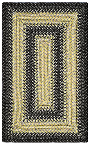 Reversible 3' x 5' Area Rug, Black/Gray, large