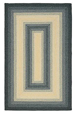 Reversible 6' x 9' Area Rug, Black/Gray, large