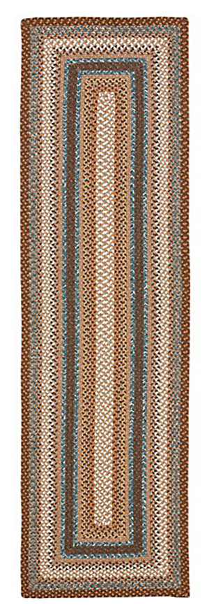 "Reversible 2'3"" x 8' Runner Rug, Multi, large"