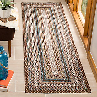 "Reversible 2'3"" x 8' Runner Rug, Multi, rollover"