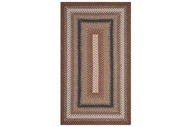 Reversible 3' x 5' Area Rug, Multi, large