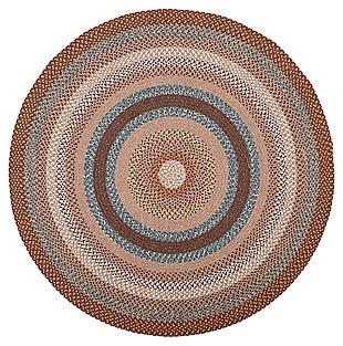 Reversible 8' x 8' Round Rug, Multi, large