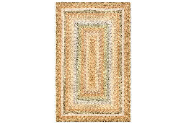 Reversible 5' x 8' Area Rug, Beige, large