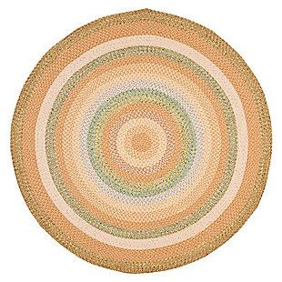 Reversible 8' x 8' Round Rug, Beige, large