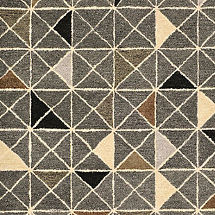 Home Accents 5' x 8' Rug, Gray, large