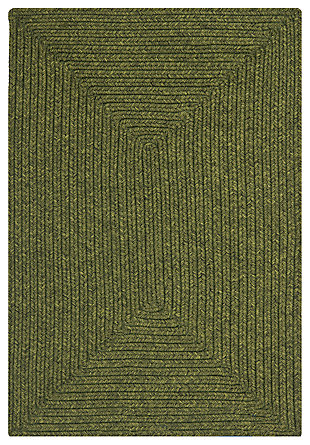 Reversible 3' x 5' Area Rug, Green, rollover