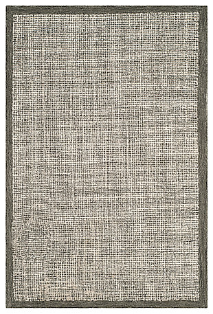 Hand Crafted 4' x 6' Area Rug, Sage/Ivory, large