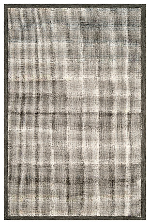 Hand Crafted 6' x 9' Area Rug, Sage/Ivory, large