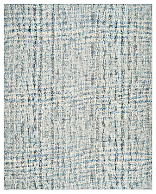 Abstract 8' x 10' Area Rug, Charcoal/Blue, large
