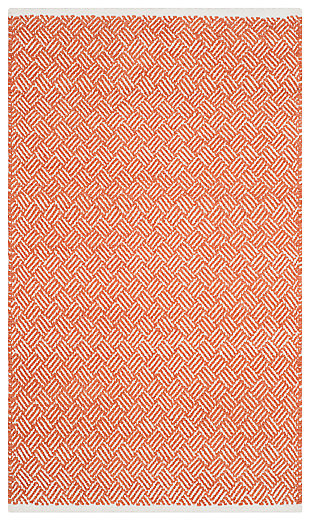 Hand Crafted 5' x 8' Area Rug, Red, large