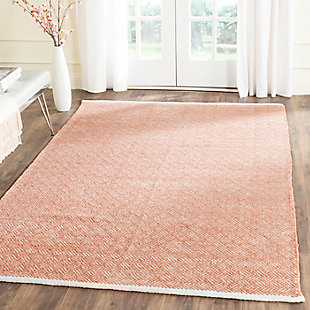 Hand Crafted 5' x 8' Area Rug, Red, rollover