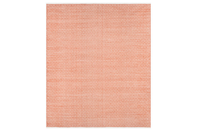 Hand Crafted 8' x 10' Area Rug, Red, large