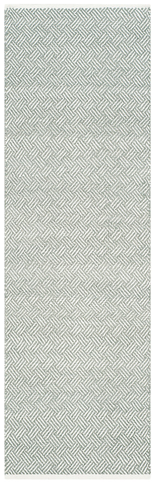 "Hand Crafted 2'3"" x 7' Runner Rug, Gray, large"
