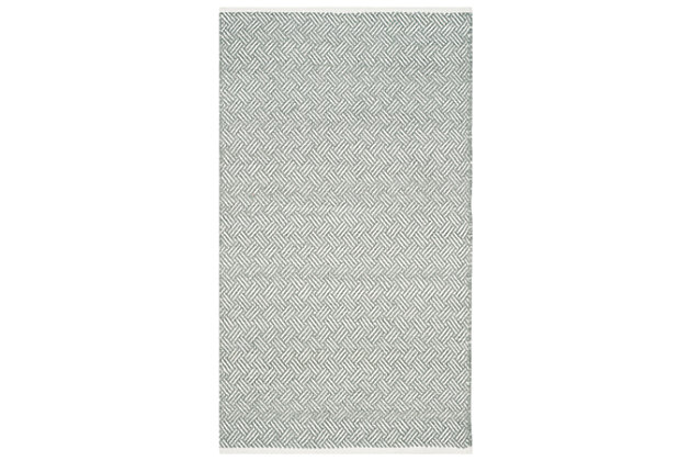 Hand Crafted 3' x 5' Doormat, Gray, large