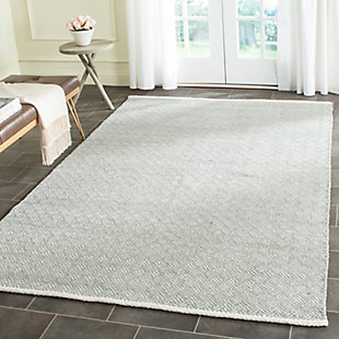 Hand Crafted 5' x 8' Area Rug, Gray, rollover