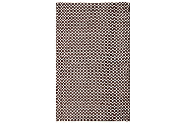 Hand Crafted 5' x 8' Area Rug, Brown, large